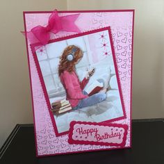 Hunkydory card made from little book Hunky Dory, Little Books, Card Making, Happy Birthday, Female, Cards, Happy Brithday, Urari La Multi Ani, Happy Birthday Funny