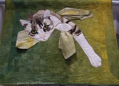 """Relaxing Under the Weeping Willow Tree, 25 x 31"""", by Carol Deards (Santa Rosa, California).  2013 PIQF.  Photo by Quilt Inspiration."""