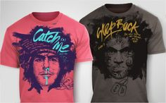 I like the colors of the shirt on the left. Also, love the brush lettering. // Clothing inspiration