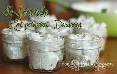 Homemade, All Natural Anti-perspirant Deodorant http://yinmomyangmom.com/2013/01/04/natural-antiperpirant-deodorant-recipe/ <- click here to read how to make it