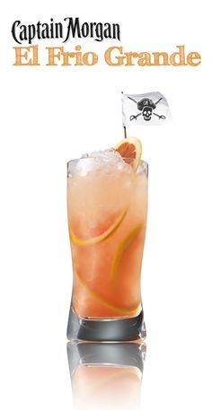Beat that summer heat with El Frio Grande a.k.a the big freeze a.k.a. just have one now. This Captain Morgan Grapefruit recipe is sooo good (it's my rum, trust me)