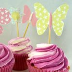 Butterfly Themed Birthday Cupcake Toppers Template #kids #party #ideas