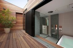 Bathroom with an open view