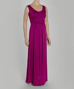 Look at this #zulilyfind! Berry Sash Maternity Maxi Dress #zulilyfinds