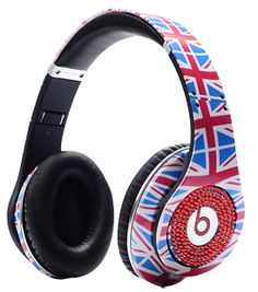Monster Beats By Dr Dre Studio Headphones High Performance The flag of the Britain United Kingdom Olympic With Red Diamond Discount Sale