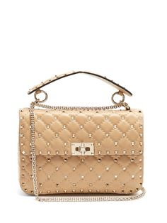 197ea3ae12ce VALENTINO Rockstud Spike Medium Quilted-Leather Shoulder Bag.  valentino   bags  shoulder bags  hand bags  leather  lining