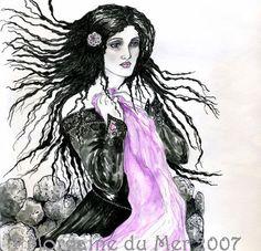 """Annabel Lee,"" 8x10 Dark Fantasy Art Print by MagickMermaid, via Etsy"