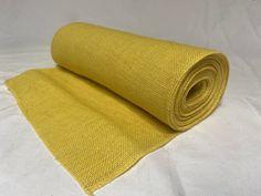 "14"" Yellow Burlap 10 Yard Sewn Edge Roll Made In USA Burlap Fabric, Burlap Ribbon, Burlap Rolls, Yard, Usa, Sewing, Yellow, Decor, Burlap Canvas"
