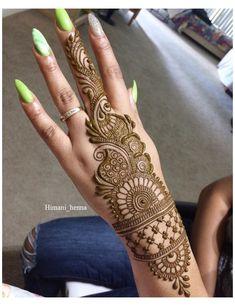 Henna Hand Designs, Mehndi Designs Finger, Latest Arabic Mehndi Designs, Back Hand Mehndi Designs, Mehndi Designs For Beginners, Mehndi Designs For Girls, Unique Mehndi Designs, Mehndi Designs For Fingers, Mehndi Design Images