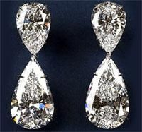 World's most expensive earrings by The House of Winston are 60.1 carats at $80,000,000
