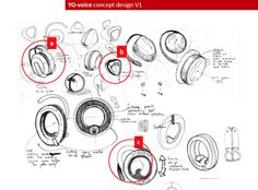 Yoyo Bluetooth earphone for Swissvoice by Anton Ruckman, via Behance