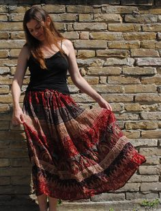 Indian maxi skirt boho skirt Indian gipsy by BalthazarVintage