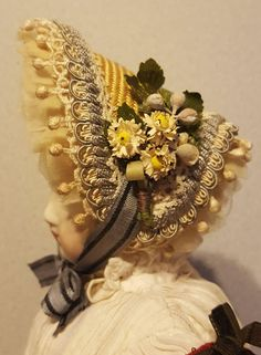 Gorgeous Huret Style Bonnet, Vintage & Antique Materials ~ Artist Made from cheriespetiteboutique-rl on Ruby Lane