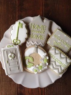 Decorated Sugar Cookies |  Housewarming  |  Just Purchased a new home