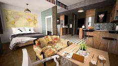 The Best Shabby Chic Furniture Interior Design Ideas Appartement Design Studio, Studio Apartment Design, Diy Apartment Decor, Small Apartment Decorating, Apartment Kitchen, Rent Apartment, Micro Apartment, Apartment Renovation, London Apartment