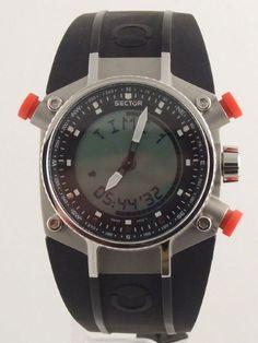 SECTOR COMPASS CHRONO-ALARM-TIMER ANADIGIT MEN'S WATCH in Jewelry & Watches | eBay