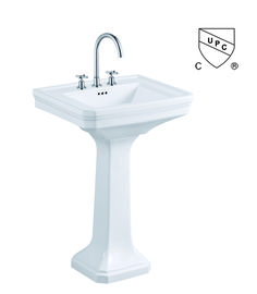 Picture Collection Website cUPC approved American Standard Pedestal basins China Supplier spread or single