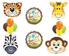 Jungle Safari Welcome Baby Shower Balloon Decoration Kit Anagram http://www.amazon.com/dp/B0161Y9A5E/ref=cm_sw_r_pi_dp_c1N9wb1WAQ0P4