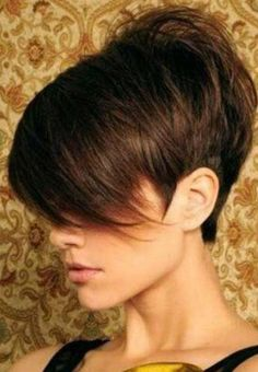 Short Sassy Hair, Short Hair Cuts, Short Hair Styles, Funky Hairstyles, Pretty Hairstyles, Corte Y Color, Pixie Haircut, Pixies, Hair Today