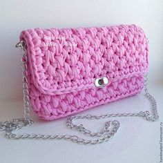 """Женские сумки ручной работы. Вязаная сумка """"Розовый парфэ"""". Вязаные сумки NefritFlower. Ярмарка Мастеров. Вязаный клатч"""