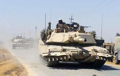 USMC M1A1HA Abrams with Mine Plow in Iraq.