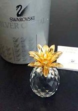 Swarovski Crystal Small Pineapple with Gold Top Leafs - $30