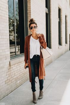 Must for fall...long cardigan sweaters....