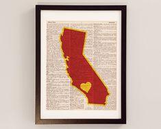 USC Dictionary Art Print - Los Angeles Art, California Art - Print on Vintage Dictionary Paper - University of Southern California Trojans on Etsy, $10.00