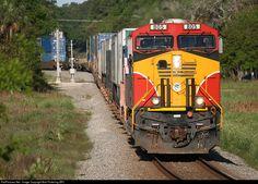 RailPictures.Net Photo: FEC 805 Florida East Coast Railroad (FEC) GE ES44C4 at St. Augustine, Florida by Bob Pickering (BP)