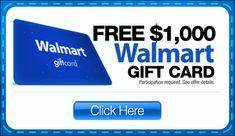 Win walmart $ 1000 gift card now