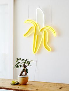 Electric Confetti neon banana lamp for Kip & Co. Photo – Annette O'Brien for The Design Files.