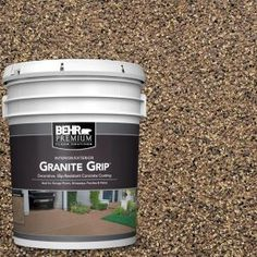 Galaxy Quartz Decorative Flat Interior/Exterior Concrete Floor - The Home Depot Bring a stunning and new look to your floor with this durable BEHR Premium Galaxy Quartz Decorative Concrete Floor Coating. Concrete Porch, Concrete Bricks, Concrete Floors, Stained Concrete, Concrete Overlay, Concrete Patios, Concrete Steps, Stone Flooring, Flat Interior