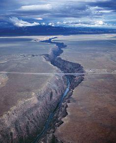 The Rio Grande River Gorge Bridge, New Mexico.