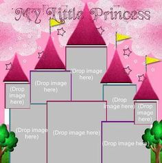 creative memories disney | Digital: Disney Princess Castle Template