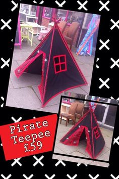 Pirate Tepee Play Tent - The Supermums Craft Fair