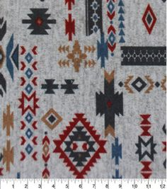 Aztec Gray Multi Imperial Knit, Fall Fabric, Rustic Fabric, Western Fabric…