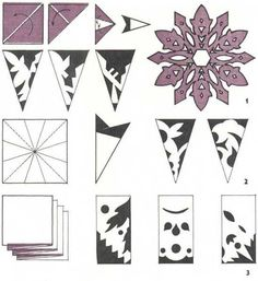 how to make paper snowflakes and garlands