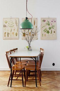 apetyczne wnętrze: rośliny na ścianie // botanical graphics on the wall