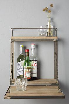 Anthropologie Fold-Down Bar Shelf farmhouse decor, blanket ladder decor, rustic, vintage, fixer upper, farmhouse living room, home decor ideas