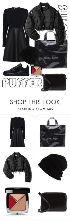 """""""All black"""" by lomozui ❤ liked on Polyvore featuring STELLA McCARTNEY, Comme des Garçons, 3.1 Phillip Lim, SCHA, Chanel, Sophie Hulme and NIKE"""