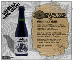 La Quince Brew - Vanilla Black Velvet (Russian Imperial Stout) Chocolate, Black Velvet, Whiskey Bottle, Brewing, Beer, Coffee, Drinks, Food, Ale