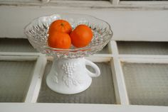 Altered pedestal bowl glass by TheSalvagedHome on Etsy, $14.95