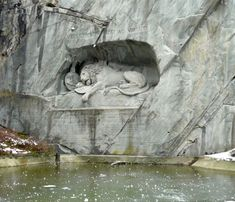 We saw the The Lion of Lucerne on the land portion of our AmaWaterways cruise. #Switzerland