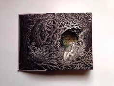 Intricate 3D Sculptures Made From Books By Seattle artist Isobelle Ouzman