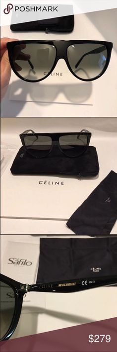 41195bb74d Celine sunglasses 🔥 Celine Thin shadow black/grey green sunglasses New  condition. authentic guaranteed Includes original Celine case and Celine  cloth.