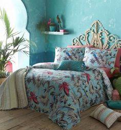 Butterfly Home by Matthew Williamson 'Eden' aqua bedding set- | Debenhams