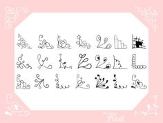 doodle corners clip art set hand drawn clipart by ArigigiPixel