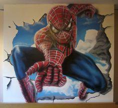 Spiderman bedroom Mural  Noah would love this!!!