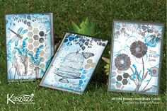 During the 2 hour workshop you will create three mixed media cards applying Gesso, Dylusions Ink Spray, Ink blending and learning to use two colours to stamp. Scrapbooking Ideas, Scrapbook Cards, Mixed Media Cards, Some Cards, Card Designs, Honeycomb, Handmade Cards, Cardmaking, Card Ideas