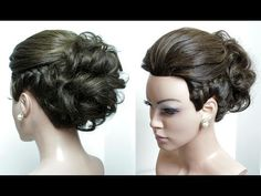 Brial hairstyle for long hair tutorial. Wedding updo with braids step by step - YouTube